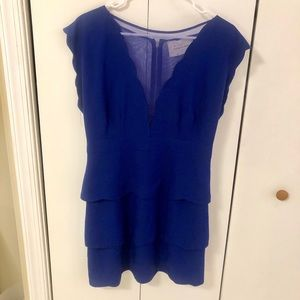 Blue scallop dress